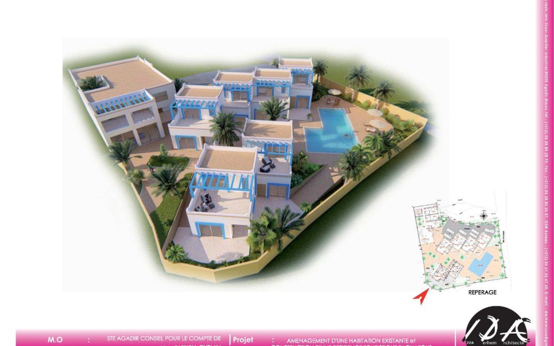 Aménagement d'une habitation existante et construction d'une résidence touristique TAGHAZOUT MAROC