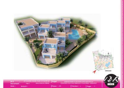 Aménagement d'une habitation existante et construction d'une résidence touristique TAGHAZOUT